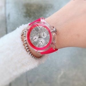 Michael Kors hot pink watch sparkle NIB